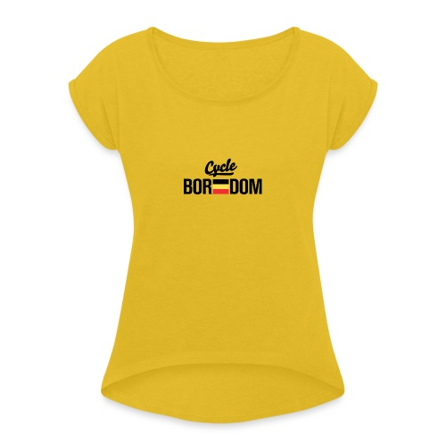 Belgian E-Flag - Women's Roll Cuff T-Shirt