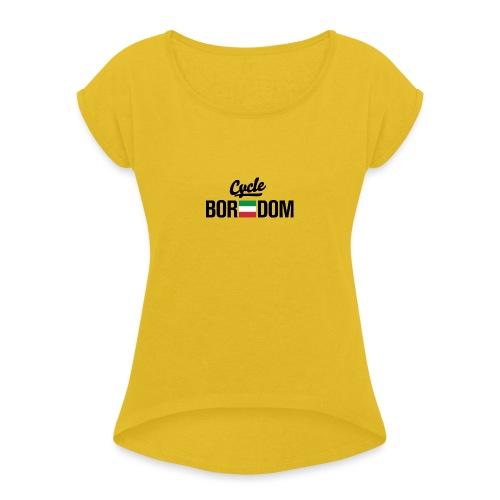 Italian E-Flag - Women's Roll Cuff T-Shirt