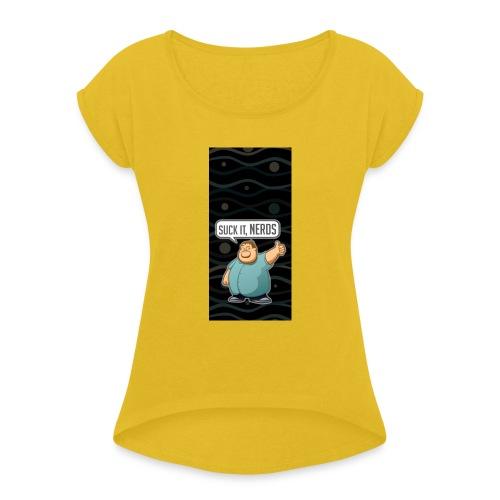 nerdiphone5 - Women's Roll Cuff T-Shirt