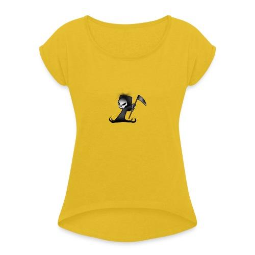the grim - Women's Roll Cuff T-Shirt