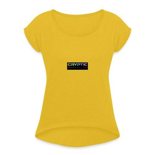 Cryptic Bonus Logo - Women's Roll Cuff T-Shirt