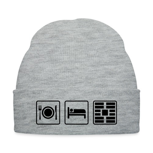 Eat Sleep Urb big fork - Knit Cap with Cuff Print