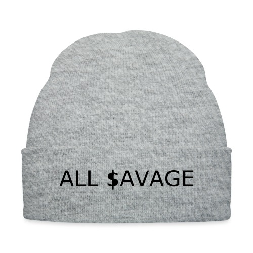 ALL $avage - Knit Cap with Cuff Print