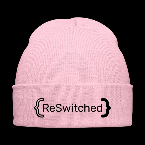 full black reswitched bmx3r - Knit Cap with Cuff Print