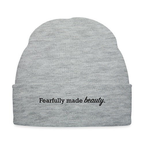 fearfully made beauty - Knit Cap with Cuff Print