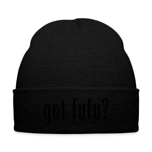 gotfufu-black - Knit Cap with Cuff Print