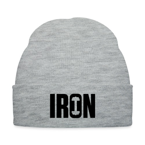 IRON WEIGHTS - Knit Cap with Cuff Print