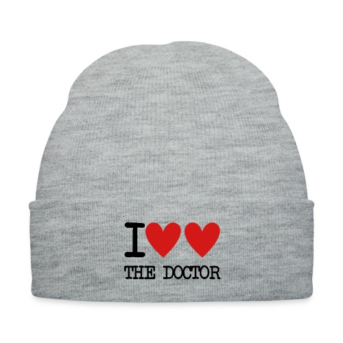 I Heart The Doctor - Knit Cap with Cuff Print