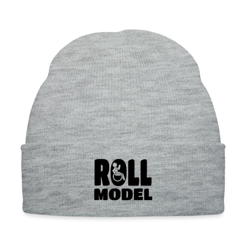 Wheelchair Roll model - Knit Cap with Cuff Print