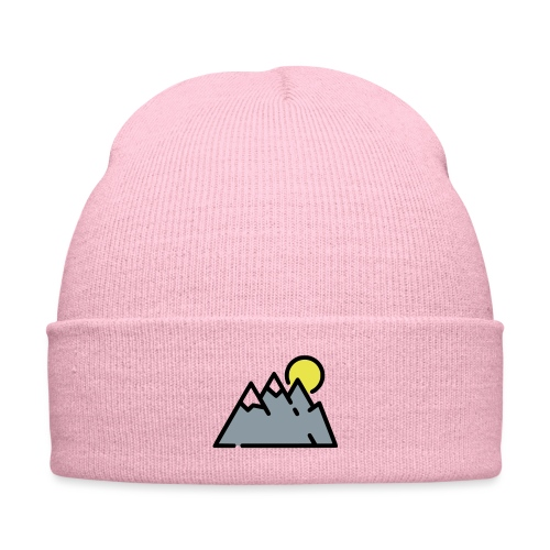 The High Mountains - Knit Cap with Cuff Print