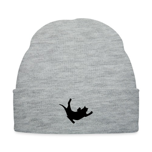 Fly Cat - Knit Cap with Cuff Print