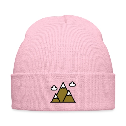 The Mountains - Knit Cap with Cuff Print