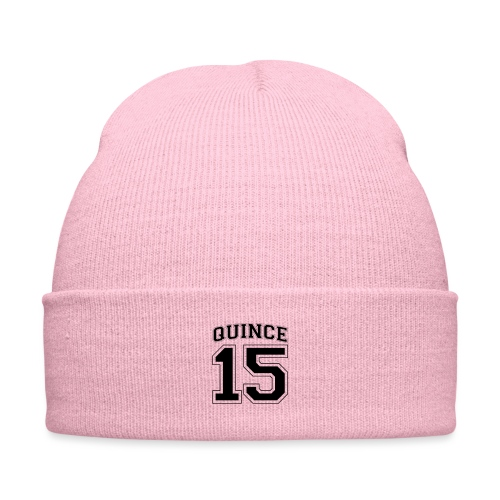 Quince 15 birthday - Knit Cap with Cuff Print