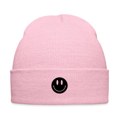 Smiley - Knit Cap with Cuff Print
