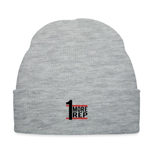 1 More Rep - Knit Cap with Cuff Print