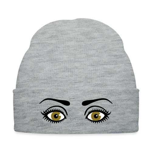 Eyes Wide Open - Knit Cap with Cuff Print