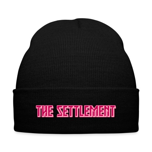 Band Name (Two-Color) | The Settlement - Knit Cap with Cuff Print