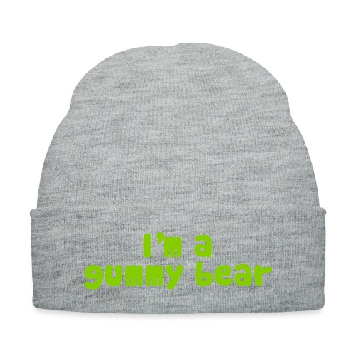 I'm A Gummy Bear Lyrics - Knit Cap with Cuff Print