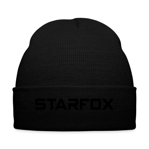 STARFOX Text - Knit Cap with Cuff Print