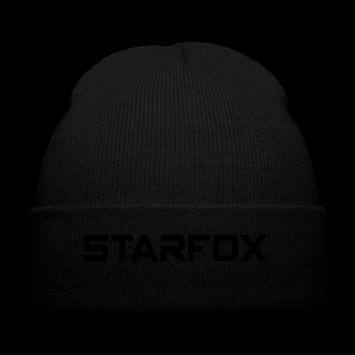 STARFOX Text - Knit Cap with Cuff Print