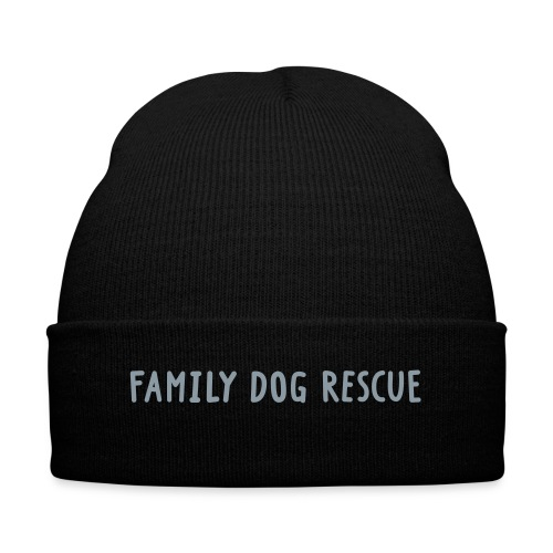 Family Dog Rescue (gray) - Knit Cap with Cuff Print