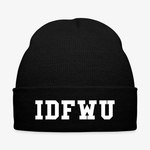 idfwu free - Knit Cap with Cuff Print