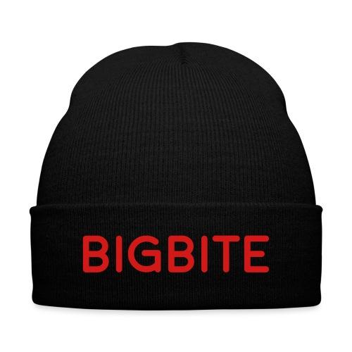 BIGBITE Blue logo (USE) - Knit Cap with Cuff Print