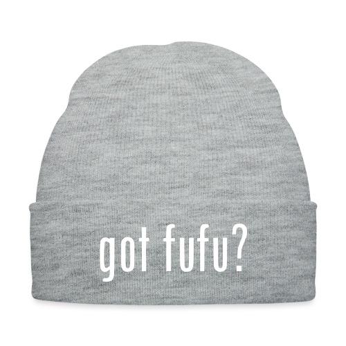 gotfufu-white - Knit Cap with Cuff Print