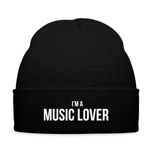 Music Lover small - Knit Cap with Cuff Print