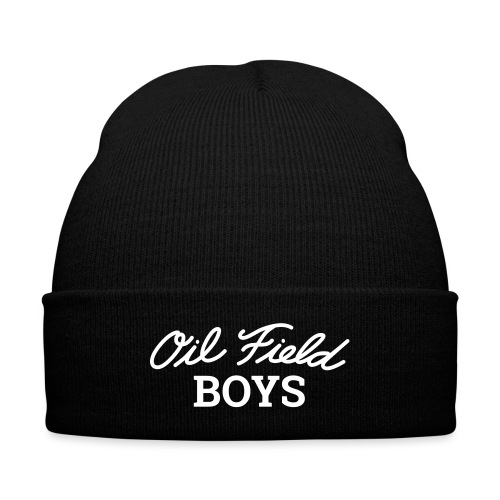 Oil Field Boys - Knit Cap with Cuff Print