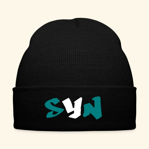 Speak Your Need Initials Teal - Knit Cap with Cuff Print