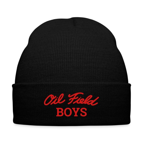 Oil Field Boys Red - Knit Cap with Cuff Print