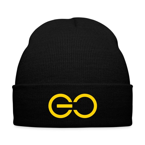 GO logo big - Knit Cap with Cuff Print