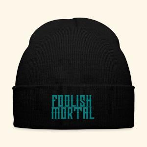 Foolish Mortal Cap - Knit Cap with Cuff Print