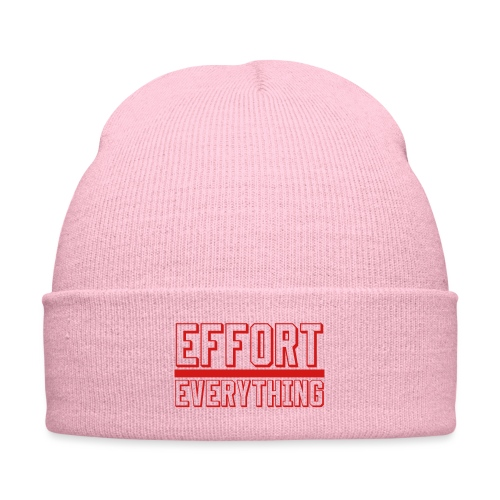 Effort Over Everything - Knit Cap with Cuff Print