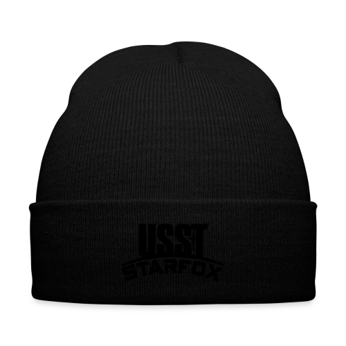 USST STARFOX Text - Knit Cap with Cuff Print