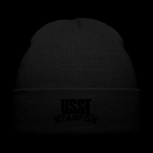 USST STARFOX Text - Knit Cap with Cuff Print