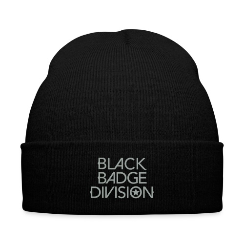 Black Badge Division Caps, Hats and Bandanas - Knit Cap with Cuff Print