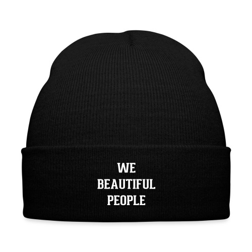 We Beautiful People - Knit Cap with Cuff Print