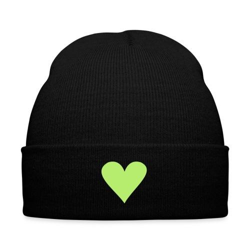 black heart - Knit Cap with Cuff Print