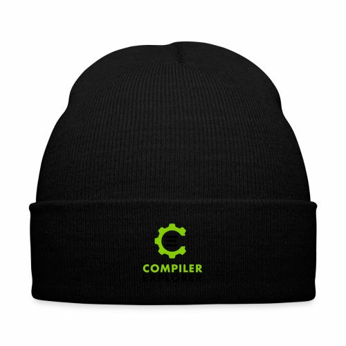 Logo and text - Knit Cap with Cuff Print
