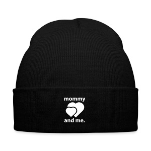 Mommy and Me - Knit Cap with Cuff Print