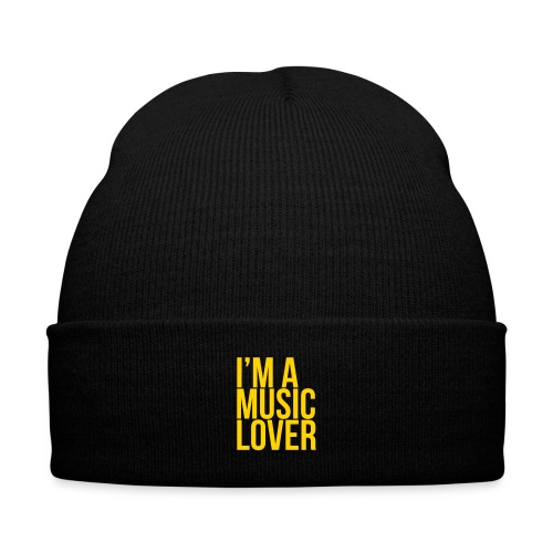 Music Lover big - Knit Cap with Cuff Print