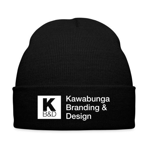 KBD Signature_blanc - Knit Cap with Cuff Print