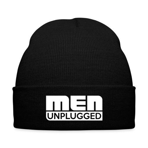 Men Unplugged cap - Knit Cap with Cuff Print