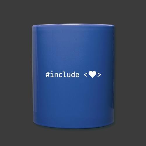 White Include Heart - Full Color Mug