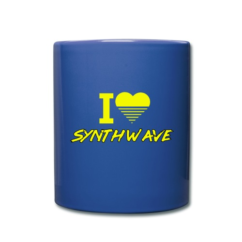 I heart synthwave (yellow) - Full Color Mug