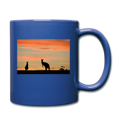 Two Kangaroos at Sunset - Full Color Mug