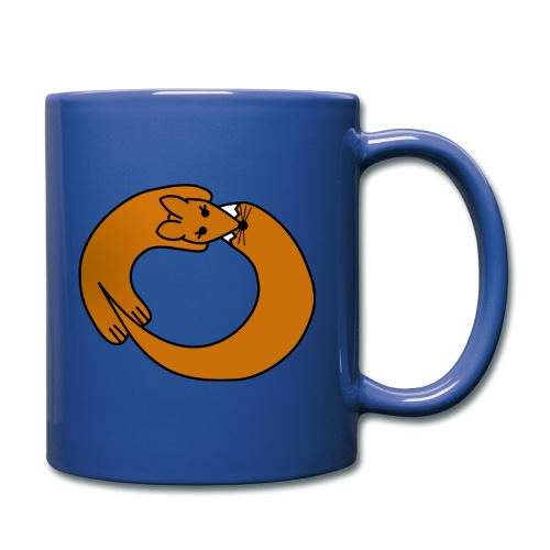 Fox Curled Up in a Circle - Full Color Mug