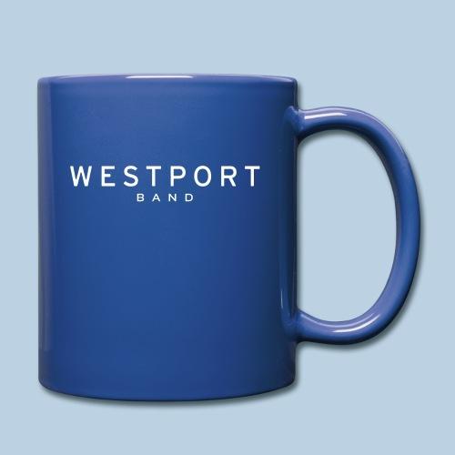 Westport Text White on transparent - Full Color Mug